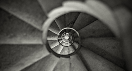 Stairs within Gaudi's Sagrada Familia