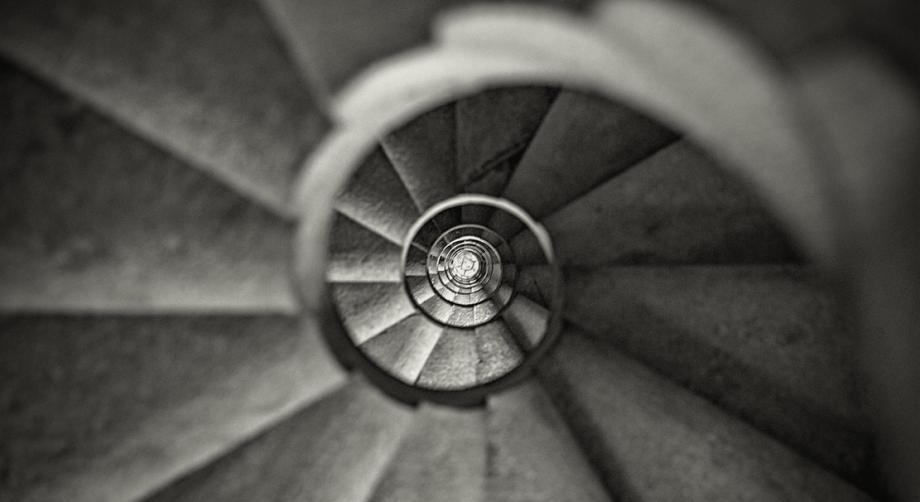 Stairs within Gaudi's Sagrada Familia
